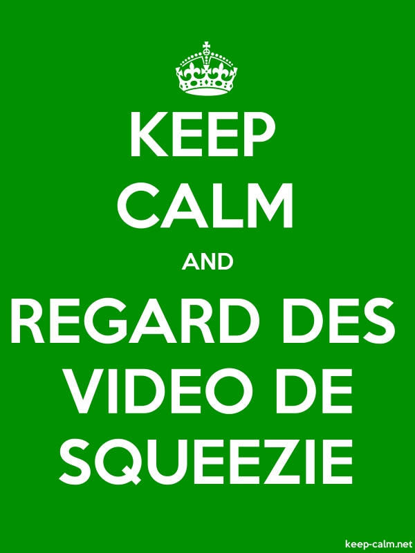 KEEP CALM AND REGARD DES VIDEO DE SQUEEZIE - white/green - Default (600x800)
