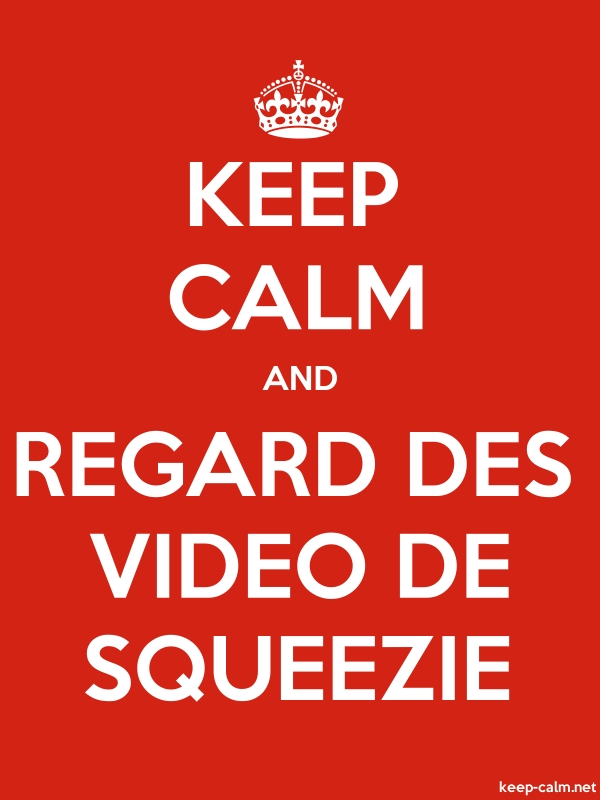 KEEP CALM AND REGARD DES VIDEO DE SQUEEZIE - white/red - Default (600x800)