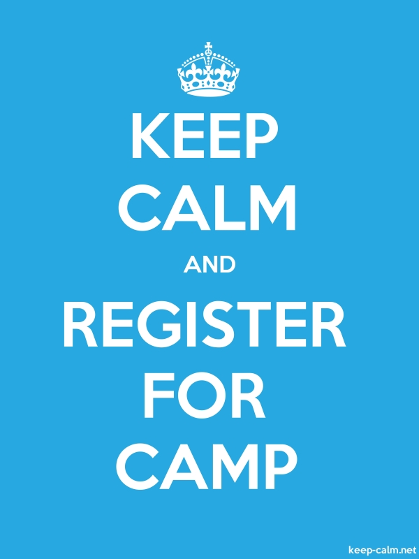 KEEP CALM AND REGISTER FOR CAMP - white/blue - Default (600x800)