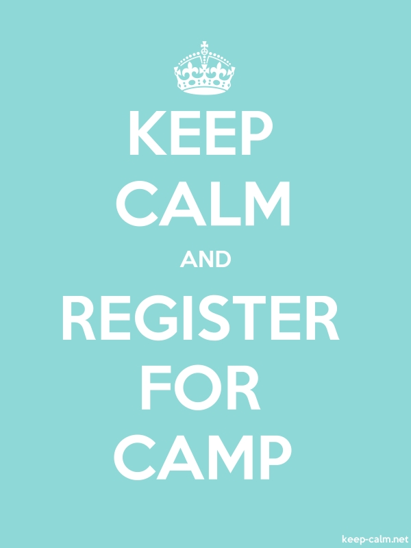 KEEP CALM AND REGISTER FOR CAMP - white/lightblue - Default (600x800)