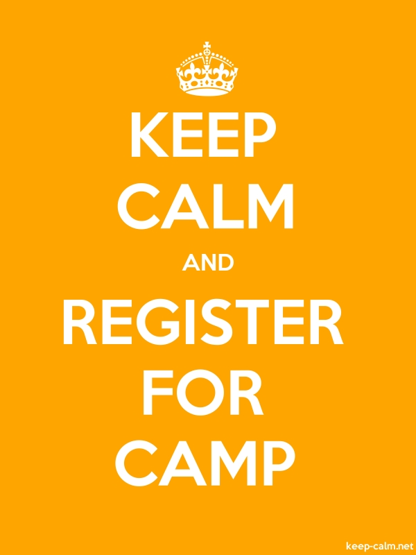 KEEP CALM AND REGISTER FOR CAMP - white/orange - Default (600x800)