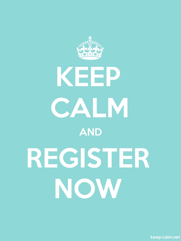 KEEP CALM AND REGISTER NOW - white/lightblue - Default (600x800)
