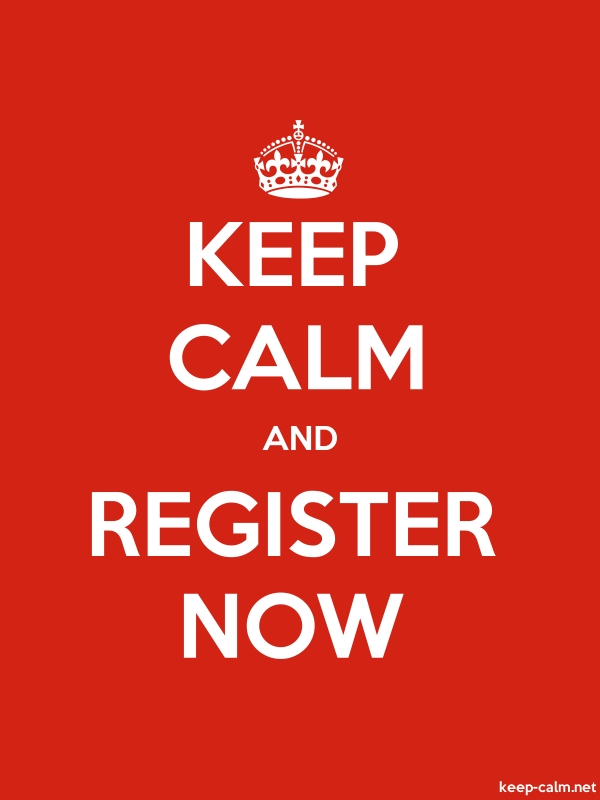 KEEP CALM AND REGISTER NOW - white/red - Default (600x800)
