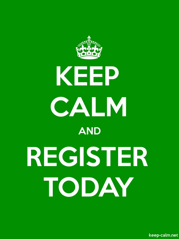 KEEP CALM AND REGISTER TODAY - white/green - Default (600x800)