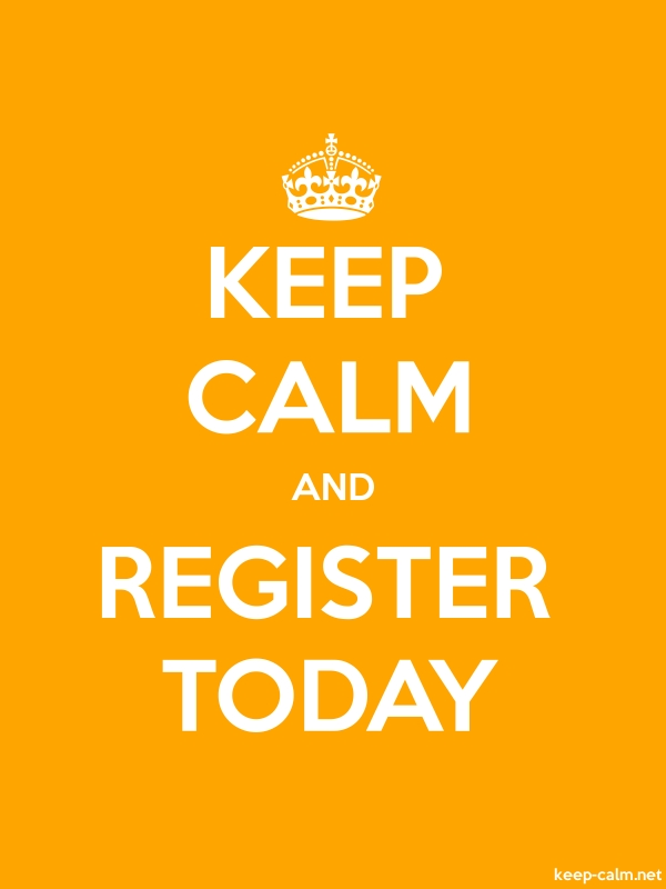 KEEP CALM AND REGISTER TODAY - white/orange - Default (600x800)