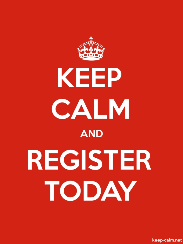 KEEP CALM AND REGISTER TODAY - white/red - Default (600x800)