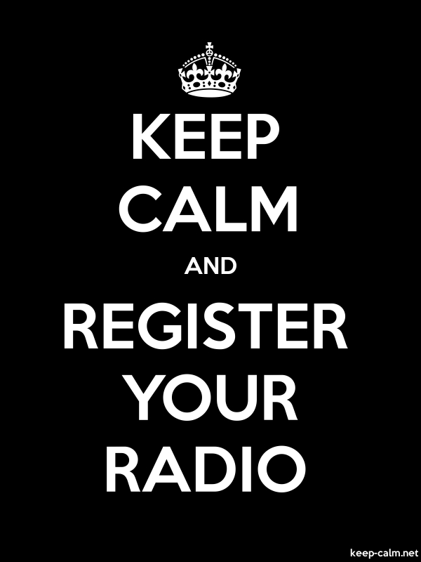 KEEP CALM AND REGISTER YOUR RADIO - white/black - Default (600x800)
