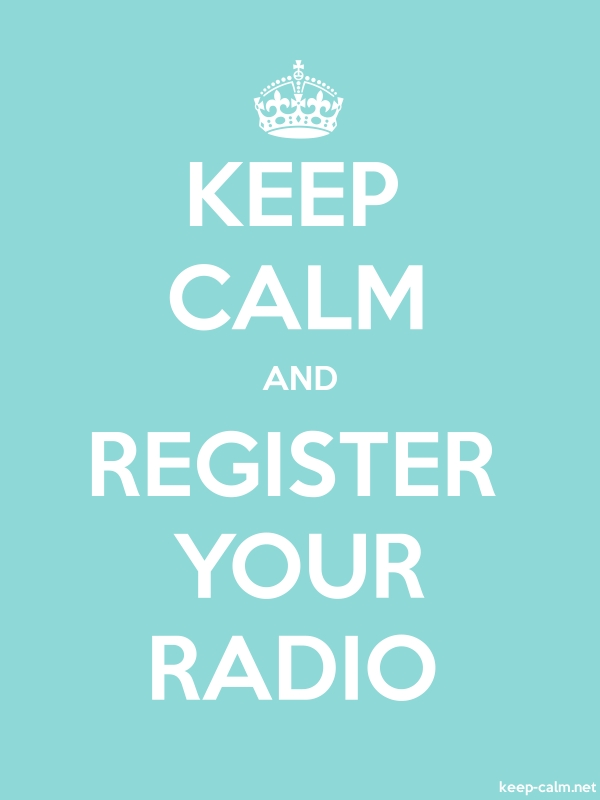 KEEP CALM AND REGISTER YOUR RADIO - white/lightblue - Default (600x800)