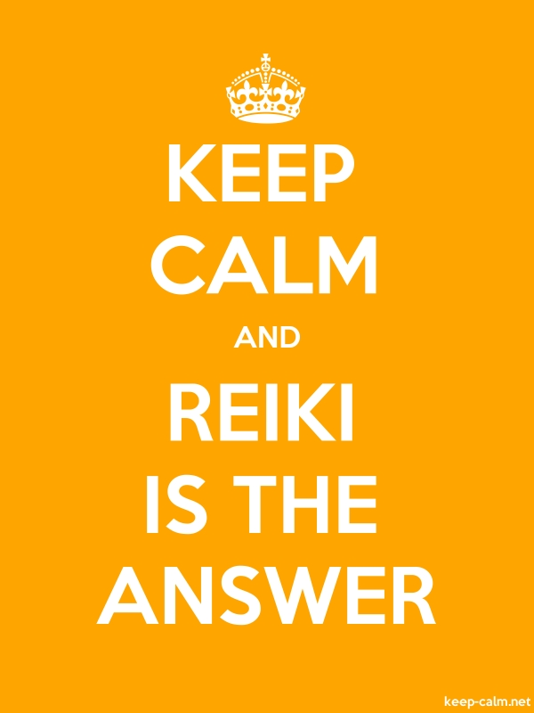 KEEP CALM AND REIKI IS THE ANSWER - white/orange - Default (600x800)