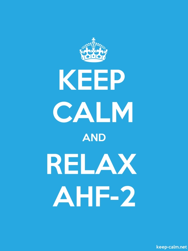 KEEP CALM AND RELAX AHF-2 - white/blue - Default (600x800)