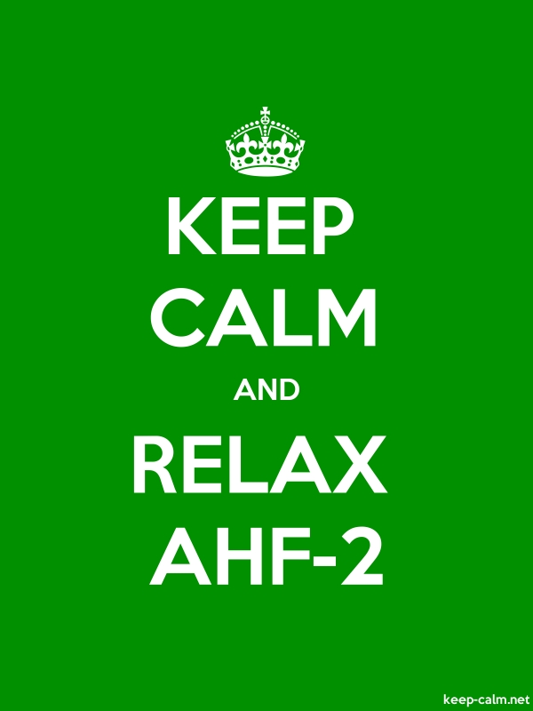 KEEP CALM AND RELAX AHF-2 - white/green - Default (600x800)
