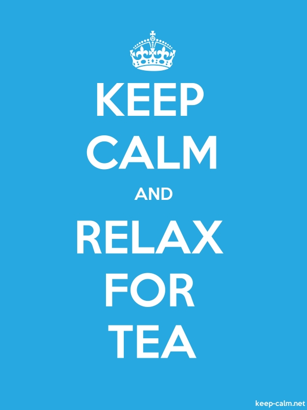 KEEP CALM AND RELAX FOR TEA - white/blue - Default (600x800)