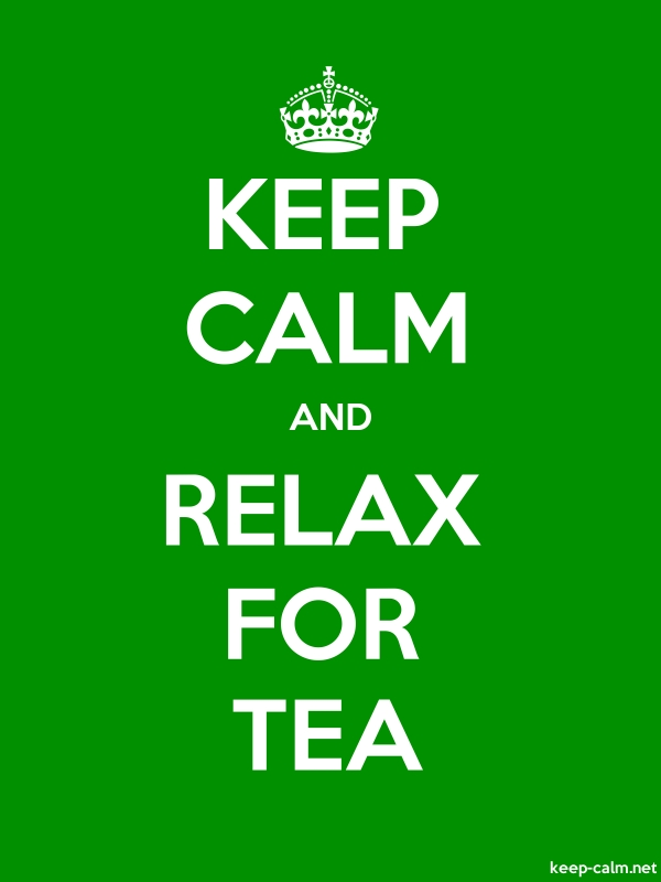 KEEP CALM AND RELAX FOR TEA - white/green - Default (600x800)