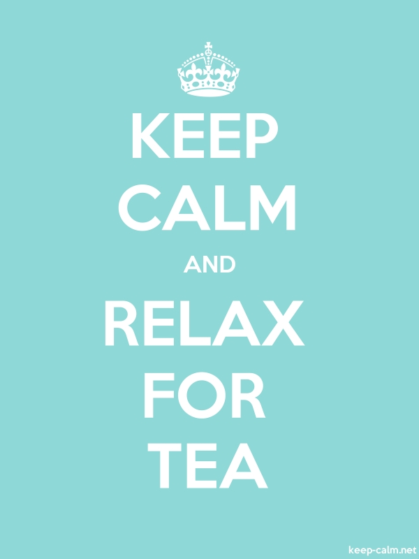 KEEP CALM AND RELAX FOR TEA - white/lightblue - Default (600x800)