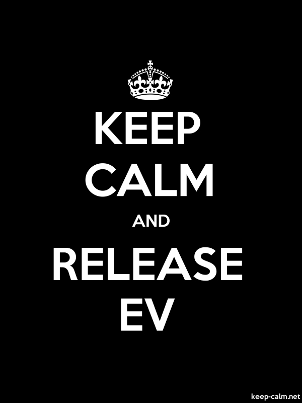 KEEP CALM AND RELEASE EV - white/black - Default (600x800)