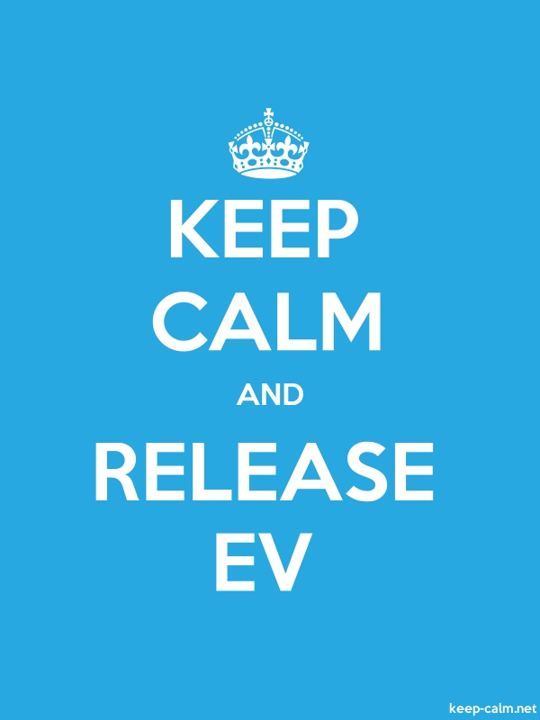 KEEP CALM AND RELEASE EV - white/blue - Default (600x800)