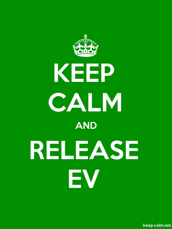 KEEP CALM AND RELEASE EV - white/green - Default (600x800)