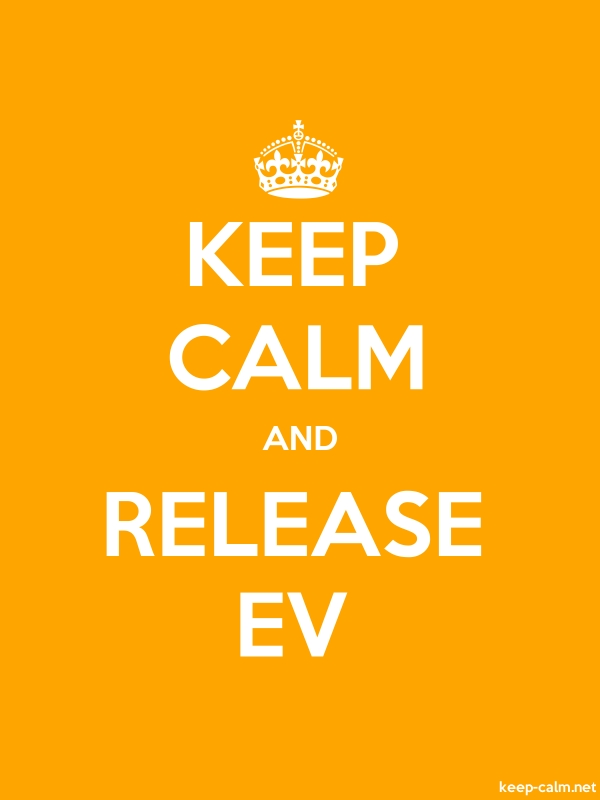 KEEP CALM AND RELEASE EV - white/orange - Default (600x800)