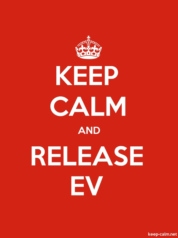 KEEP CALM AND RELEASE EV - white/red - Default (600x800)
