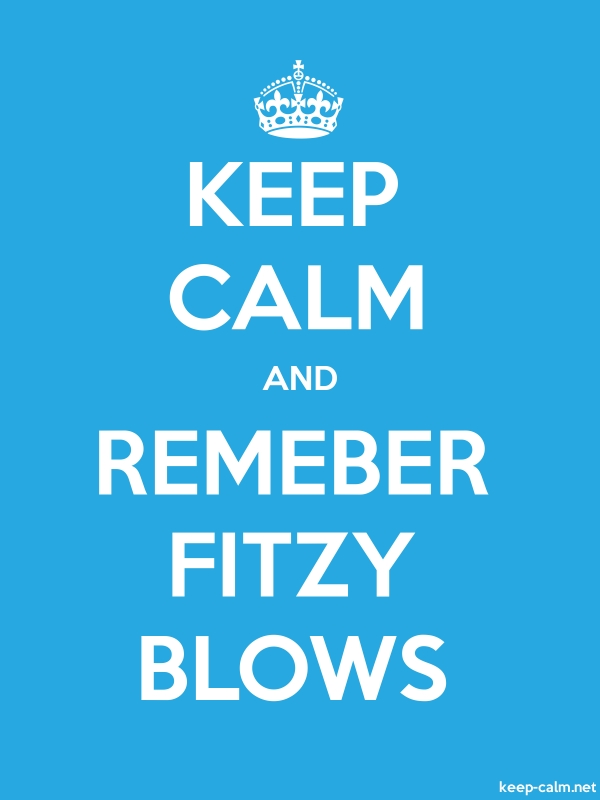 KEEP CALM AND REMEBER FITZY BLOWS - white/blue - Default (600x800)