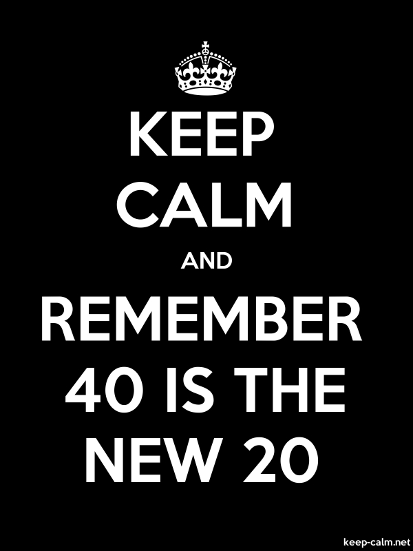 KEEP CALM AND REMEMBER 40 IS THE NEW 20 - white/black - Default (600x800)