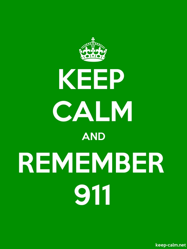 KEEP CALM AND REMEMBER 911 - white/green - Default (600x800)
