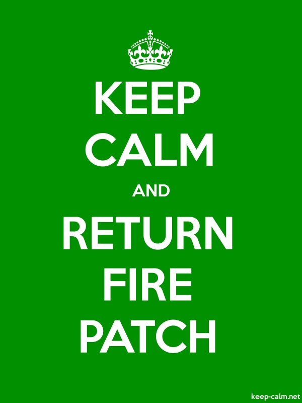 KEEP CALM AND RETURN FIRE PATCH - white/green - Default (600x800)