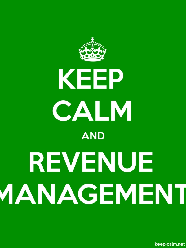 KEEP CALM AND REVENUE MANAGEMENT - white/green - Default (600x800)