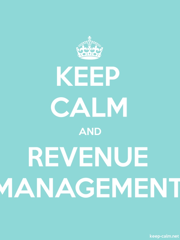 KEEP CALM AND REVENUE MANAGEMENT - white/lightblue - Default (600x800)