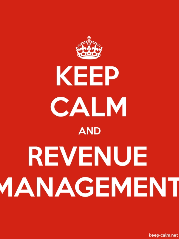 KEEP CALM AND REVENUE MANAGEMENT - white/red - Default (600x800)