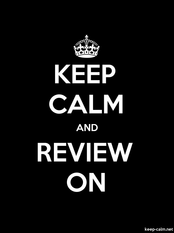 KEEP CALM AND REVIEW ON - white/black - Default (600x800)