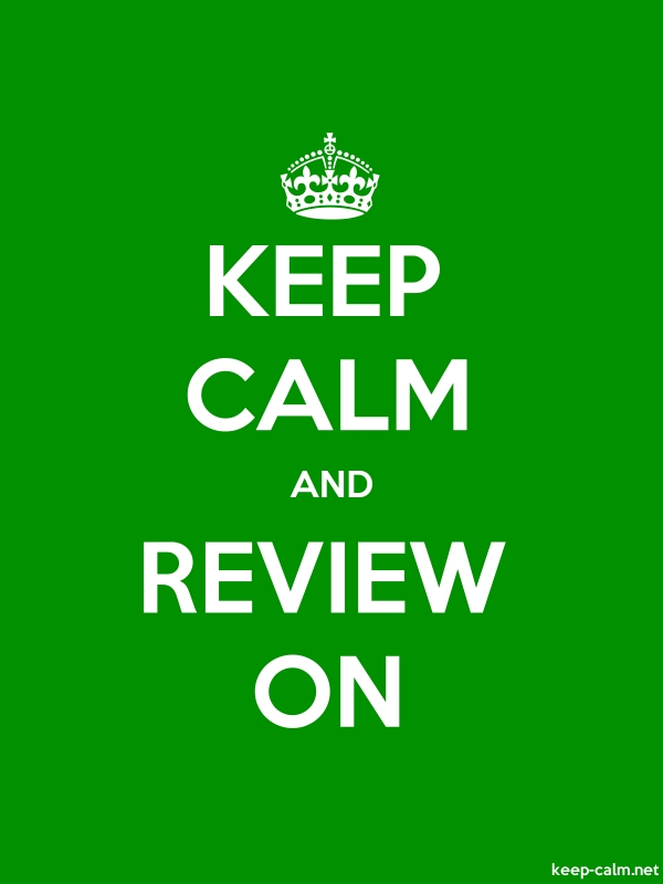 KEEP CALM AND REVIEW ON - white/green - Default (600x800)