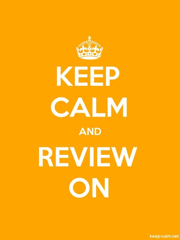 KEEP CALM AND REVIEW ON - white/orange - Default (600x800)