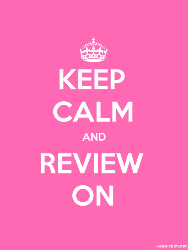 KEEP CALM AND REVIEW ON - white/pink - Default (600x800)