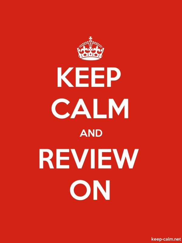 KEEP CALM AND REVIEW ON - white/red - Default (600x800)