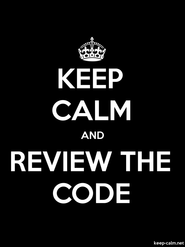 KEEP CALM AND REVIEW THE CODE - white/black - Default (600x800)