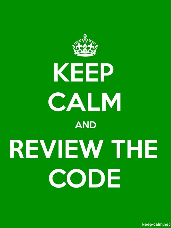 KEEP CALM AND REVIEW THE CODE - white/green - Default (600x800)