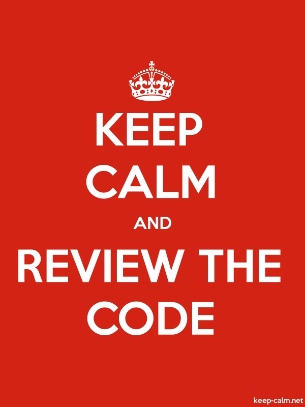 KEEP CALM AND REVIEW THE CODE - white/red - Default (600x800)