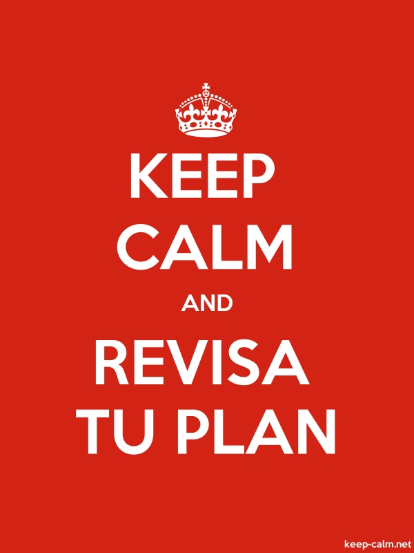 KEEP CALM AND REVISA TU PLAN - white/red - Default (600x800)