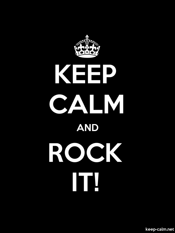 KEEP CALM AND ROCK IT! - white/black - Default (600x800)
