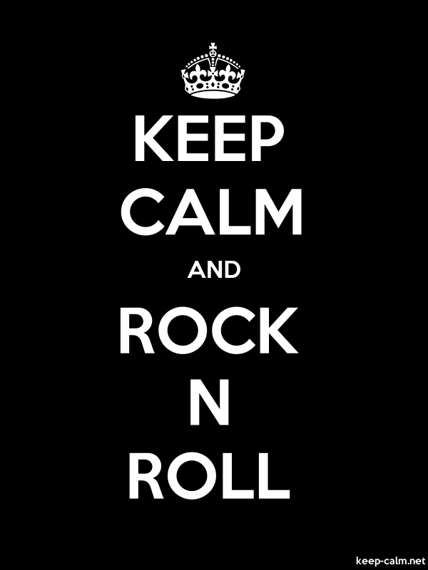KEEP CALM AND ROCK N ROLL - white/black - Default (600x800)