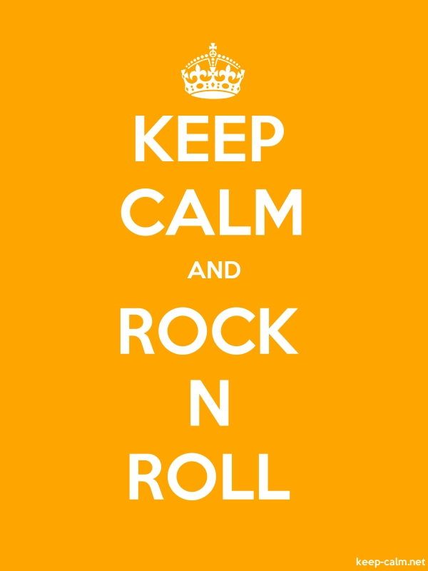 KEEP CALM AND ROCK N ROLL - white/orange - Default (600x800)