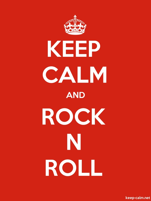 KEEP CALM AND ROCK N ROLL - white/red - Default (600x800)