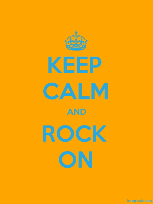 KEEP CALM AND ROCK ON - blue/orange - Default (600x800)