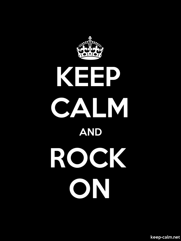 KEEP CALM AND ROCK ON - white/black - Default (600x800)