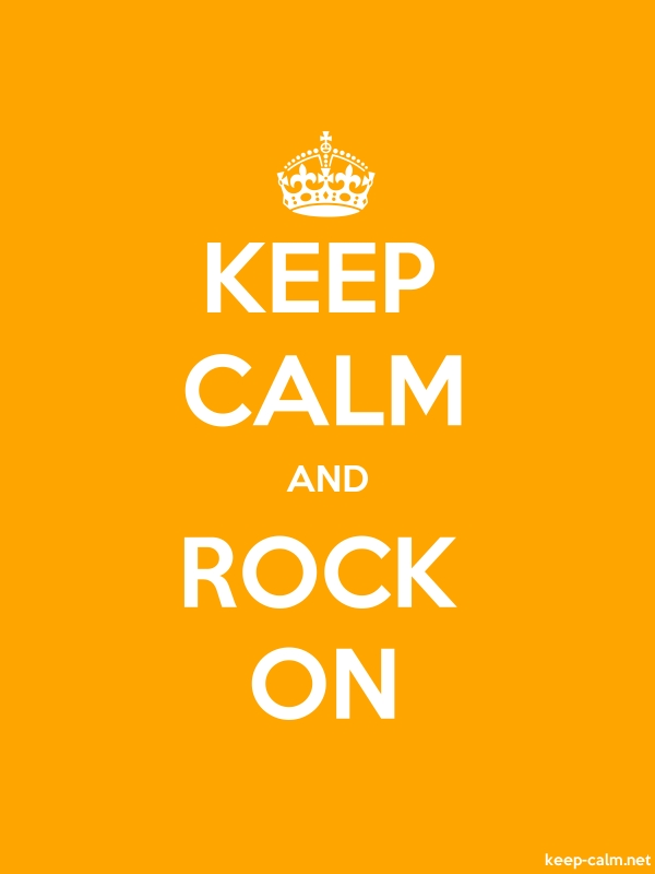 KEEP CALM AND ROCK ON - white/orange - Default (600x800)