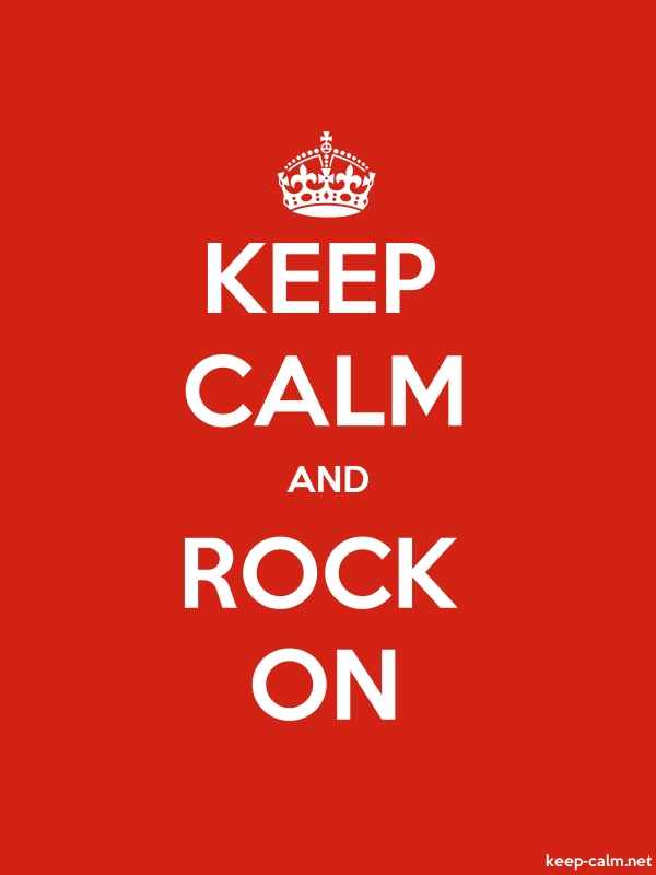 KEEP CALM AND ROCK ON - white/red - Default (600x800)