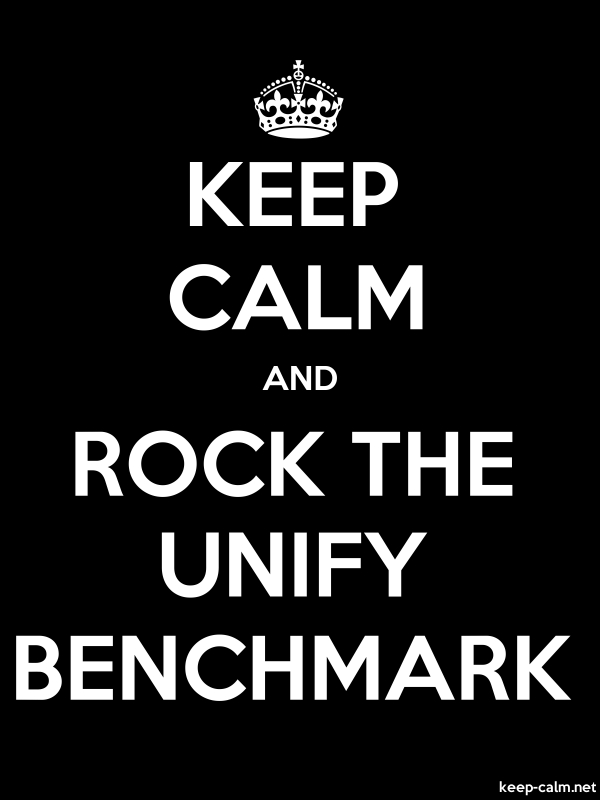 KEEP CALM AND ROCK THE UNIFY BENCHMARK - white/black - Default (600x800)