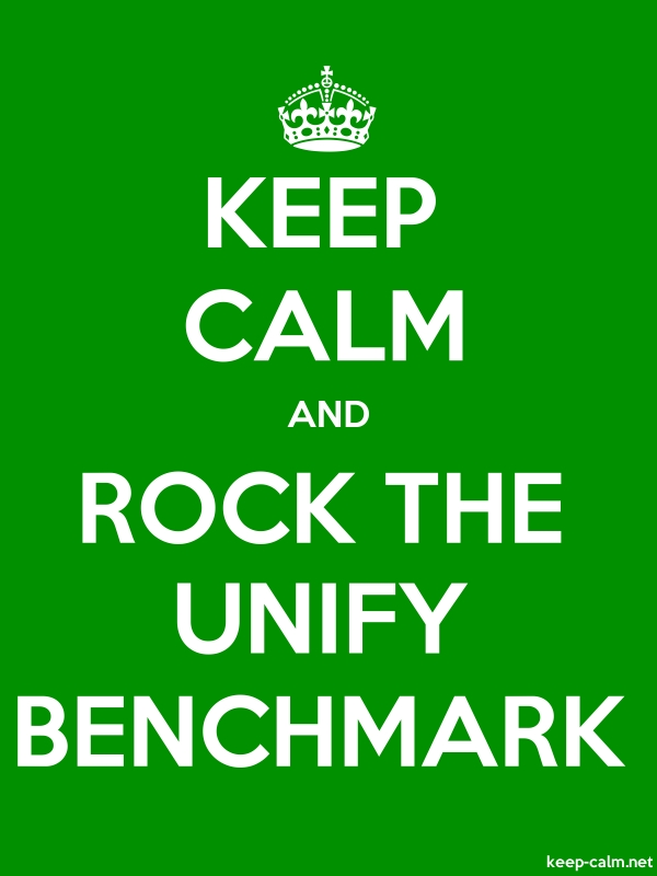 KEEP CALM AND ROCK THE UNIFY BENCHMARK - white/green - Default (600x800)