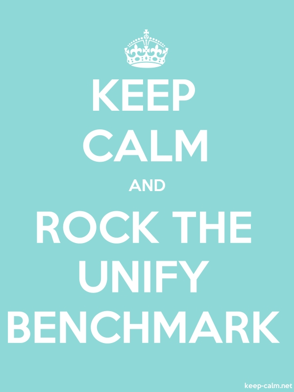 KEEP CALM AND ROCK THE UNIFY BENCHMARK - white/lightblue - Default (600x800)